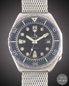 A GENTLEMAN'S STAINLESS STEEL CANDINO 1000M AUTOMATIC DIVERS BRACELET WATCH CIRCA 1980s, REF. 1.