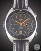 A GENTLEMAN'S STAINLESS STEEL HEUER AUTAVIA AUTOMATIC CHRONOGRAPH WRIST WATCH CIRCA 1970s, REF.