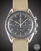 "A RARE GENTLEMAN'S STAINLESS STEEL RHODESIAN MILITARY OMEGA SPEEDMASTER PROFESSIONAL ""PRE MOON"""