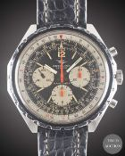 A GENTLEMAN'S STAINLESS STEEL BREITLING NAVITIMER CHRONOGRAPH WRIST WATCH CIRCA 1968, REF. 0816