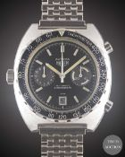 A GENTLEMAN'S STAINLESS STEEL HEUER AUTAVIA AUTOMATIC CHRONOGRAPH BRACELET WATCH CIRCA 1980s, REF.