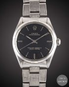 A GENTLEMAN'S STAINLESS STEEL ROLEX OYSTER PERPETUAL BRACELET WATCH CIRCA 1973, REF. 1002 WITH GLOSS