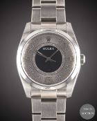A GENTLEMAN'S SIZE STAINLESS STEEL ROLEX OYSTER PERPETUAL BRACELET WATCH CIRCA 2008, REF. 116000
