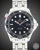 "A GENTLEMAN'S STAINLESS STEEL OMEGA SEAMASTER PROFESSIONAL 300M ""JAMES BOND"" BRACELET WATCH DATED"