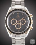 "A GENTLEMAN'S STAINLESS STEEL & ROSE GOLD OMEGA SPEEDMASTER PROFESSIONAL ""APOLLO 15"" CHRONOGRAPH"
