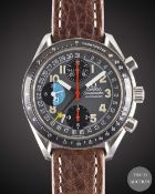 "A GENTLEMAN'S STAINLESS STEEL OMEGA SPEEDMASTER ""MK 40"" TRIPLE CALENDAR AUTOMATIC CHRONOGRAPH"