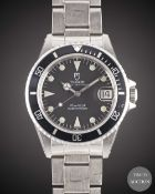 A MID SIZE STAINLESS STEEL ROLEX TUDOR PRINCE OYSTERDATE SUBMARINER BRACELET WATCH CIRCA 1990,