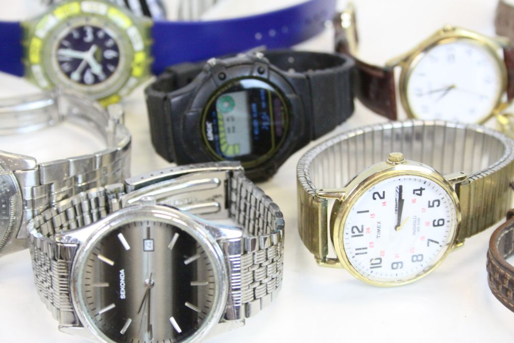 Lot 238 - Ladies and Gents watches including Seiko, Swatch, Timex