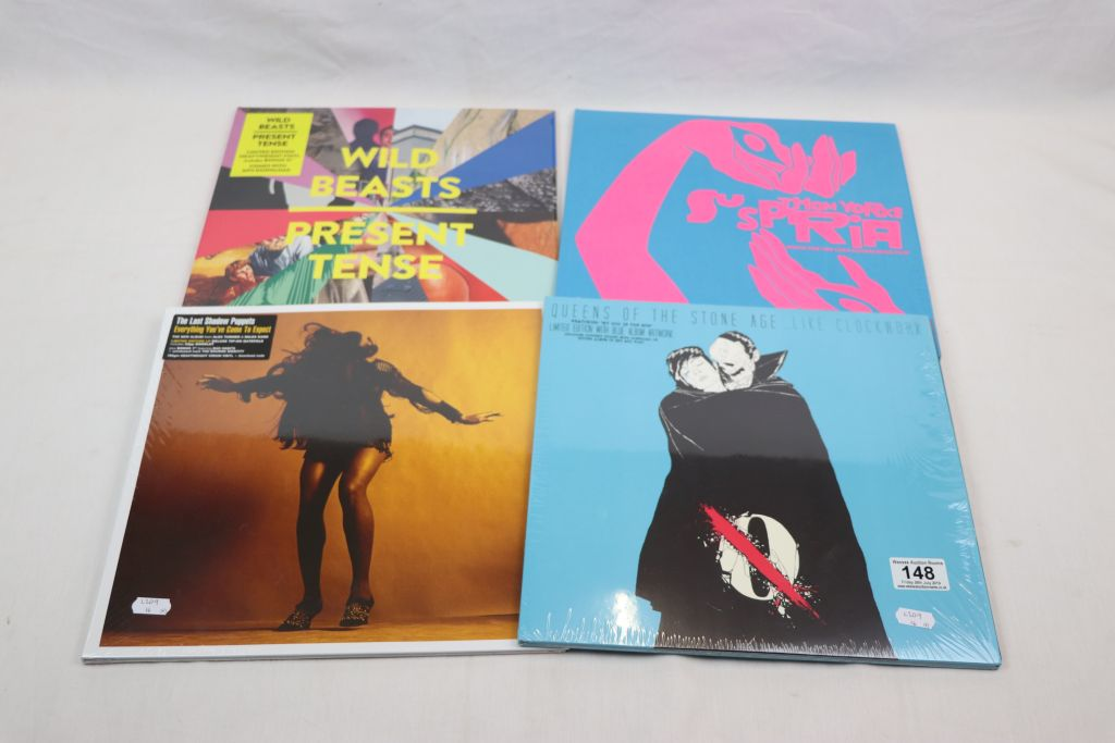 Lot 148 - Vinyl - Four LPs to include The Last Shadow Puppets Everything You've Come To Expect, Queens of