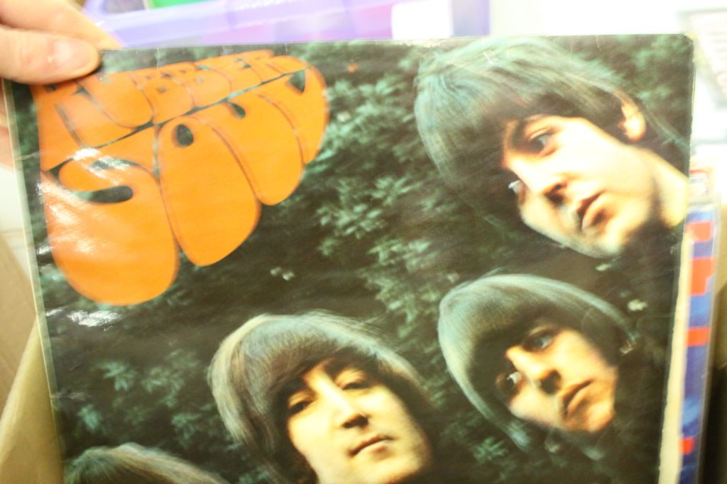 Lot 442 - Vinyl - The Beatles & Members - Collection of approx 15 LP's to include For Sale, Sgt Pepper, Rubber