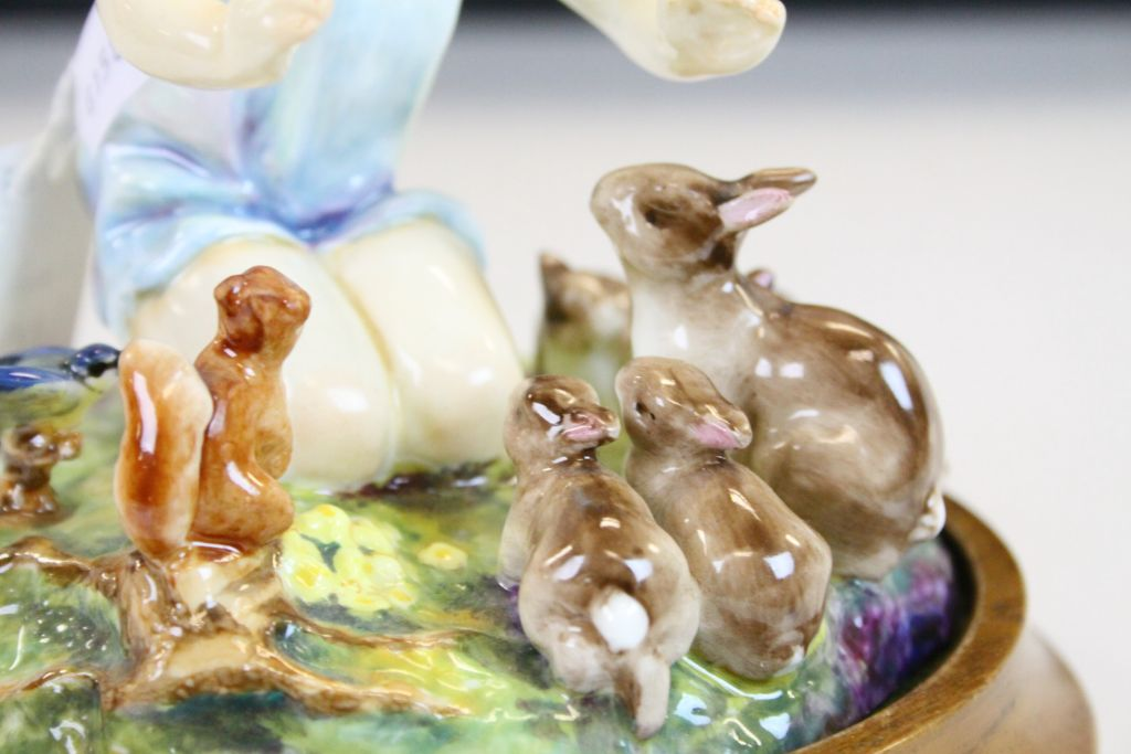 """Lot 19 - Royal Worcester ceramic Figurine """"A Woodland Dance"""" by F G Doughty, numbered 3076/2 with Wooden"""