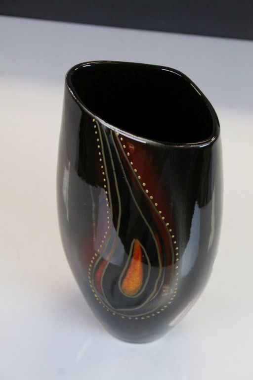 """Lot 20 - Anita Harris ceramic Vase marked """"Trial"""" and signed in Gold to base, stands approx 24.5cm"""