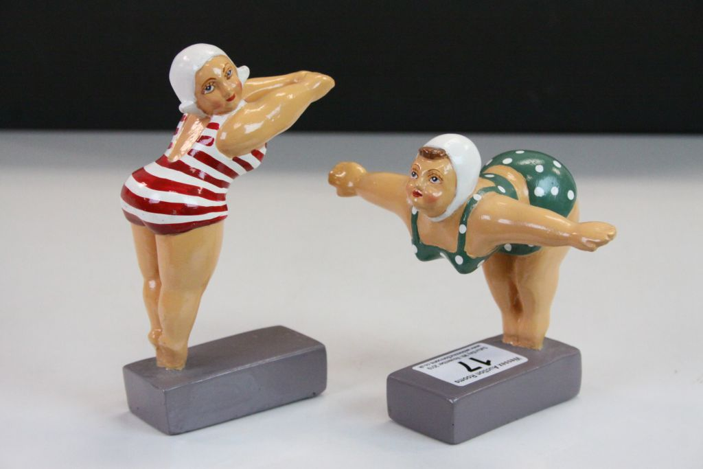 Lot 17 - Two Beryl Cook Humorous Bathing Figures by ' Peter Martin Originals '