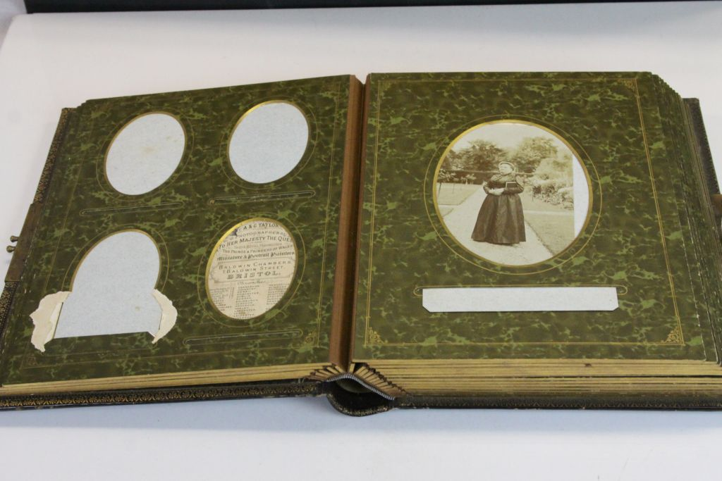 Lot 49 - Victorian CDV Photograph Album mainly full