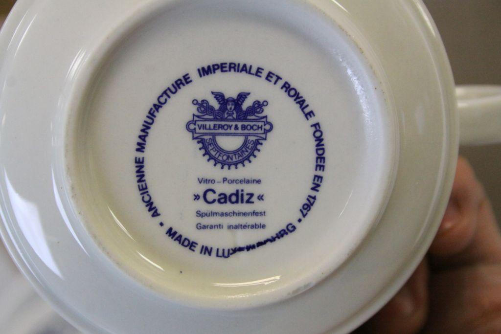 "Lot 59 - Collection of Villeroy & Bosch ceramic Tea wares in ""Cadiz"" pattern"