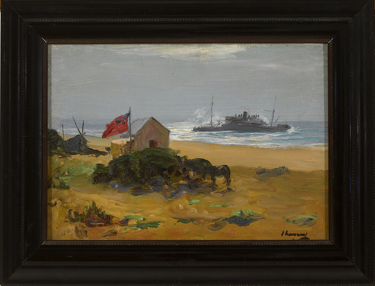 Lot 25 - Sir John Lavery RA RSA RHA (1856-1941) THE WRECK OF THE DELHI, SIDI CASSIM, MOROCCO, 1911