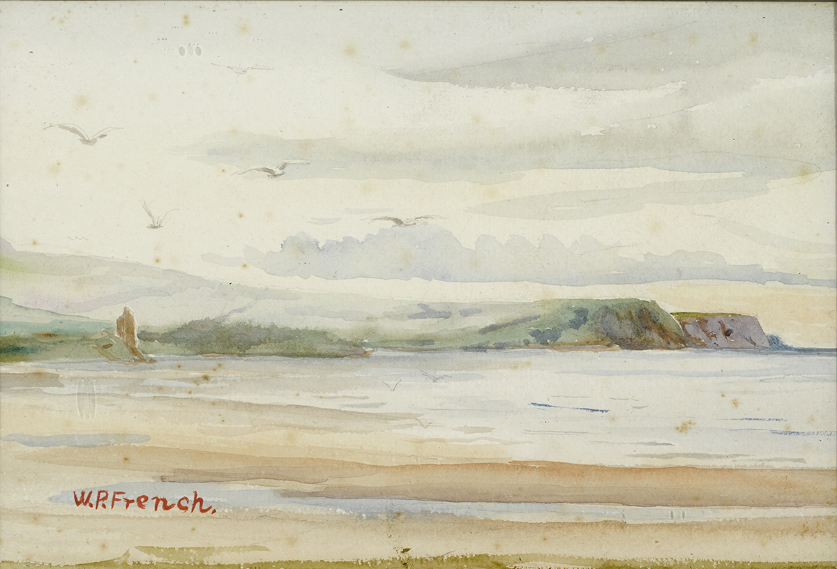 Lot 2 - William Percy French (1854-1920)COASTAL LANDSCAPE watercolour signed lower left 6 by 9in. (15.2 by