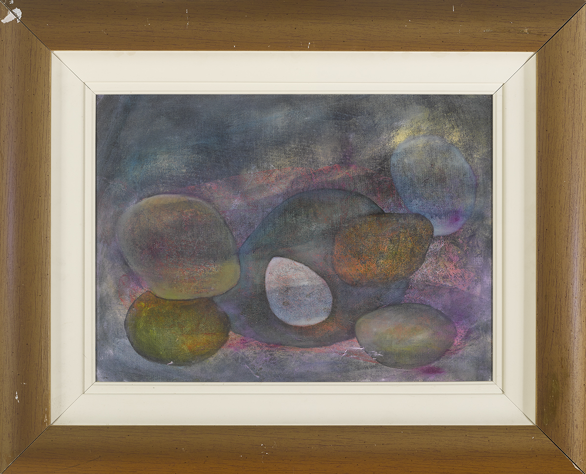 Lot 55 - Anne Yeats (1919-2001)PEBBLES oil on canvas 16 by 22in. (40.6 by 55.9cm) Estate of Anne Yeats (
