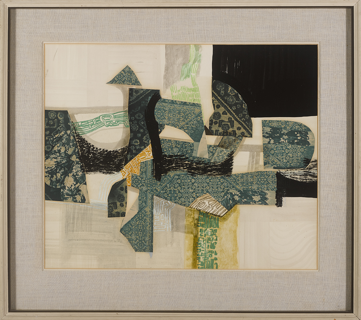 Lot 57 - George Campbell RHA (1917-1979)STILL LIFE COMPLEX mixed media titled on reverse 19.75 by 24.25in. (