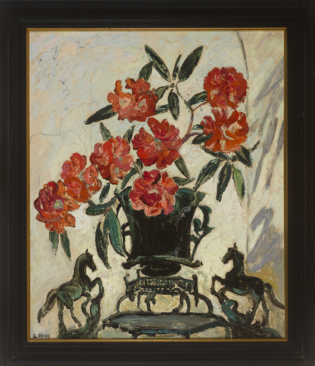 Lot 45 - Letitia Marion Hamilton RHA (1878-1964)STILL LIFE WITH FLOWERS oil on canvas signed lower left; with