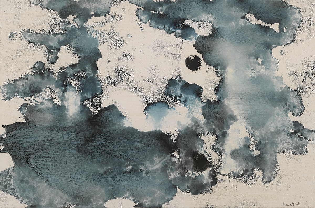 Lot 53 - Anne Yeats (1919-2001)MOONSCAPE, c. 1965 monotype signed lower right; with Dawson Gallery label on