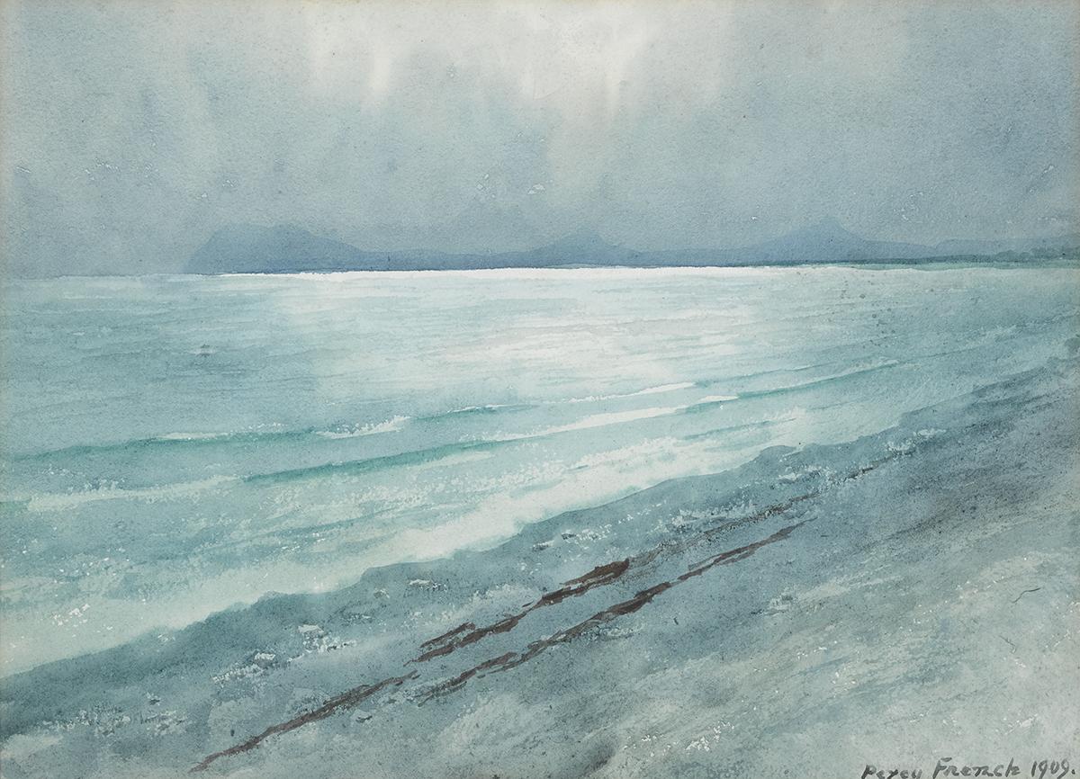Lot 3 - William Percy French (1854-1920)BRAY HEAD FROM KILLINEY BAY, COUNTY DUBLIN, 1909 watercolour