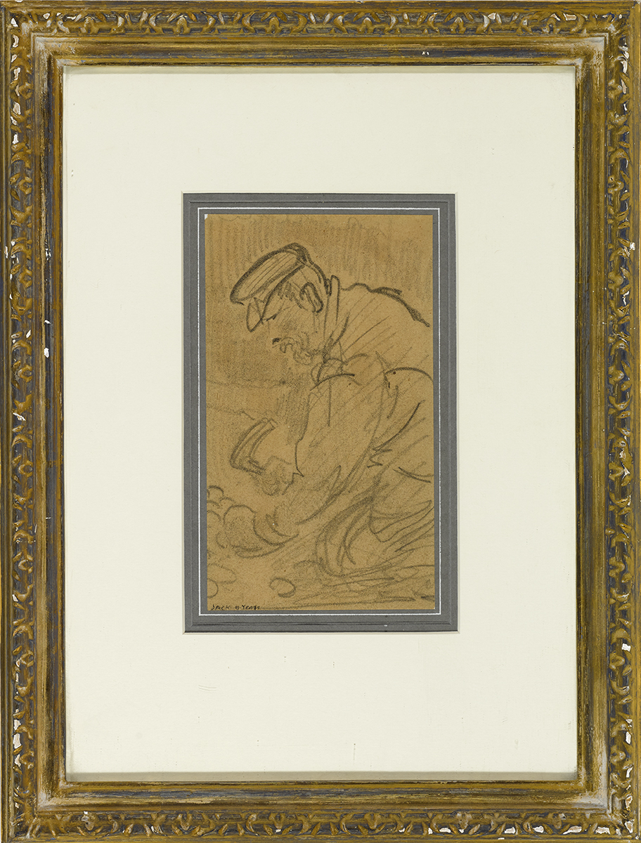 Lot 29 - Jack Butler Yeats RHA (1871-1957)POBBLES AT SNAIL'S CASTLE, DEVON pencil signed lower left; with