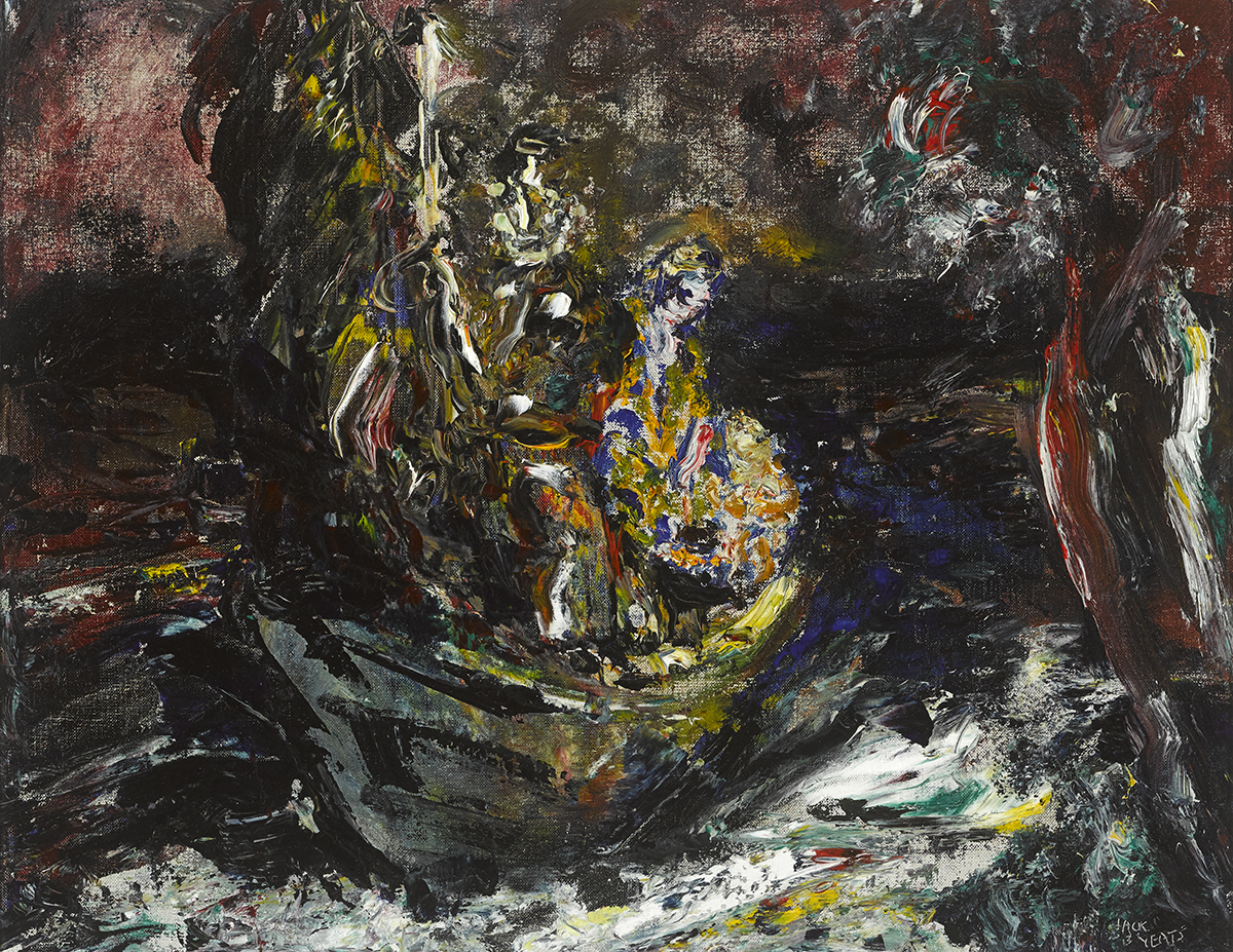 Lot 28 - Jack Butler Yeats RHA (1871-1957)HOPE, 1946 oil on canvas signed lower right; titled on stretcher;