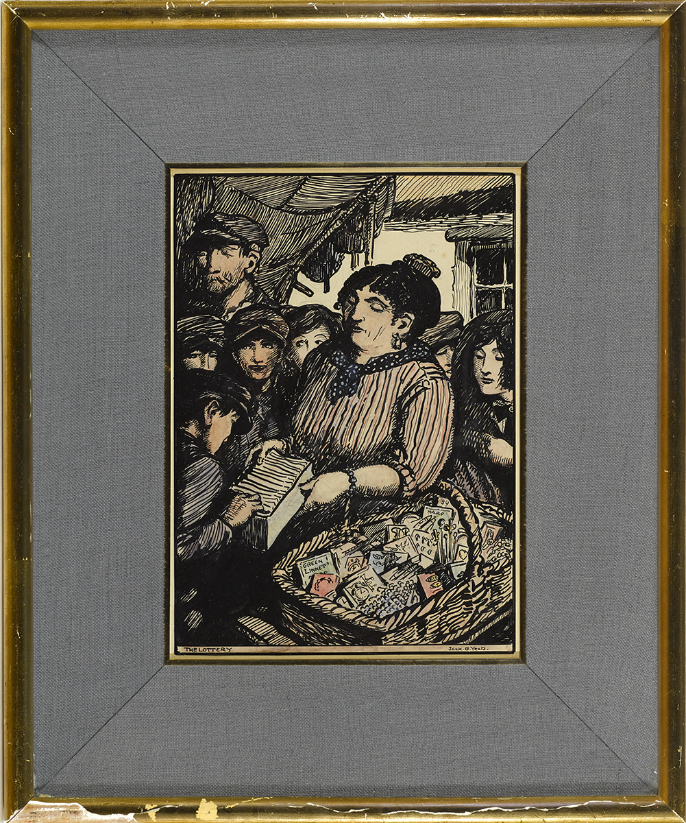 Lot 27 - Jack Butler Yeats RHA (1871-1957)THE LOTTERY, c. 1913 pen, ink and watercolour signed lower right;