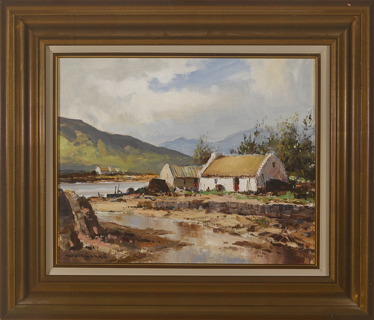 Lot 11 - Maurice Canning Wilks RUA ARHA (1910-1984)ON INNISHNEE, COUNTY GALWAY oil on canvas signed lower
