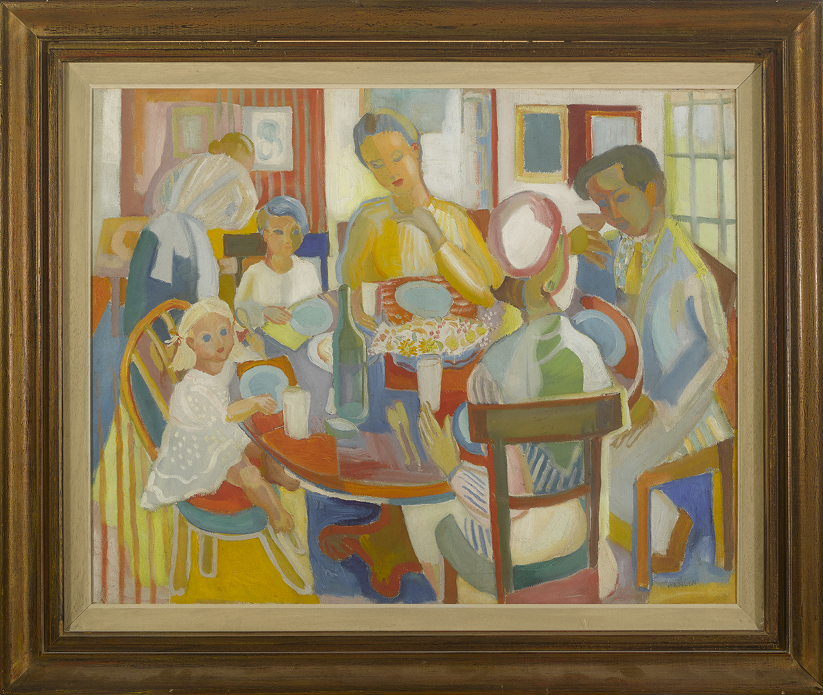 Lot 49 - Father Jack P. Hanlon (1913-1968)SUNDAY LUNCH oil on canvas signed lower right; with Pyms Gallery