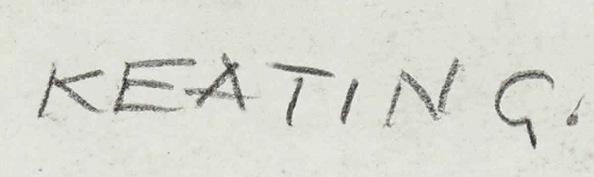 Lot 41 - Seán Keating PPRHA HRA HRSA (1889-1977)PORTRAIT SKETCH OF MAINIE JELLETT conté on paper signed lower