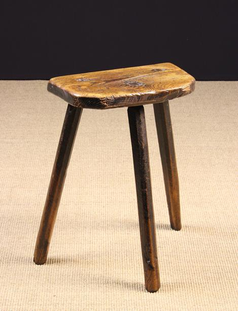 Lot 57 - A Tall 19th Century Rustic Cutler's Stool.
