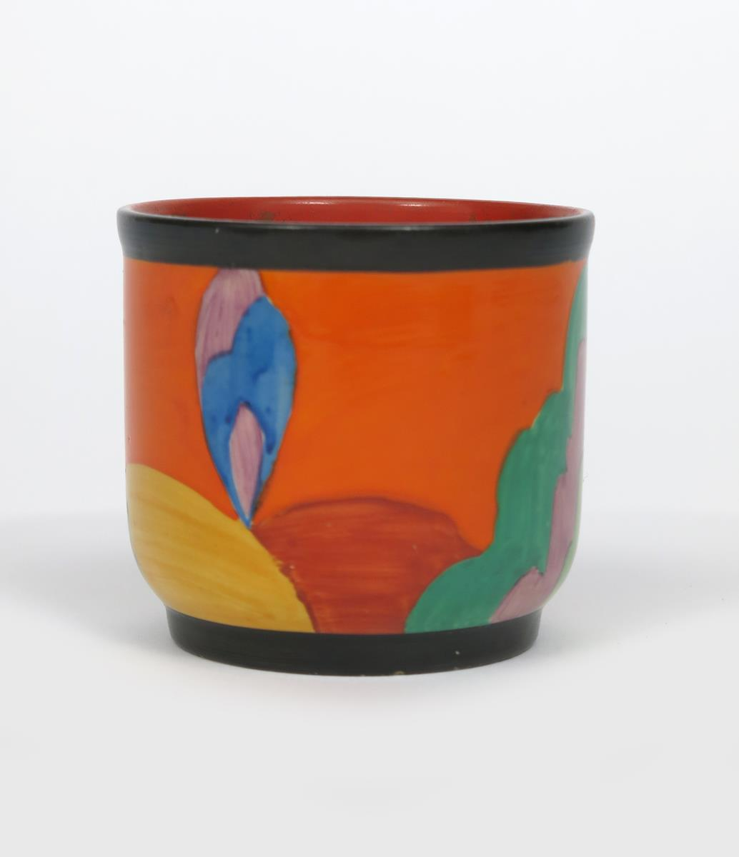 'Applique Avignon' a Clarice Cliff Bizarre fern pot, painted in colours printed and painted - Image 2 of 4