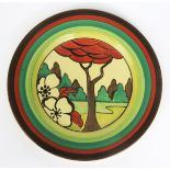 'Limberlost' a Clarice Cliff Fantasque Bizarre plate, painted in colours, eleven Christie's