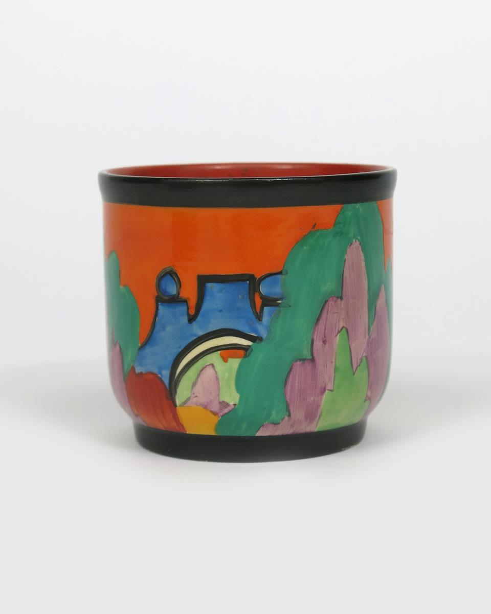 'Applique Avignon' a Clarice Cliff Bizarre fern pot, painted in colours printed and painted - Image 4 of 4