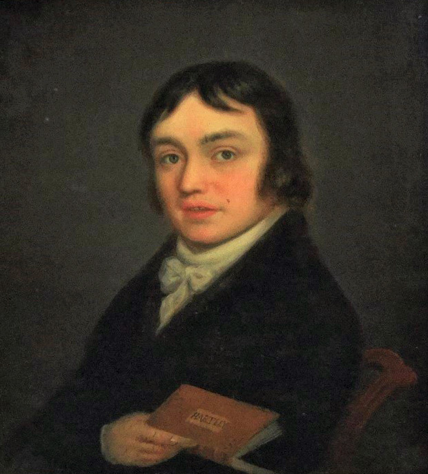 Lot 650 - Attributed to William Shuter (British fl.1771-1798) - Portrait of Samuel Taylor Coleridge