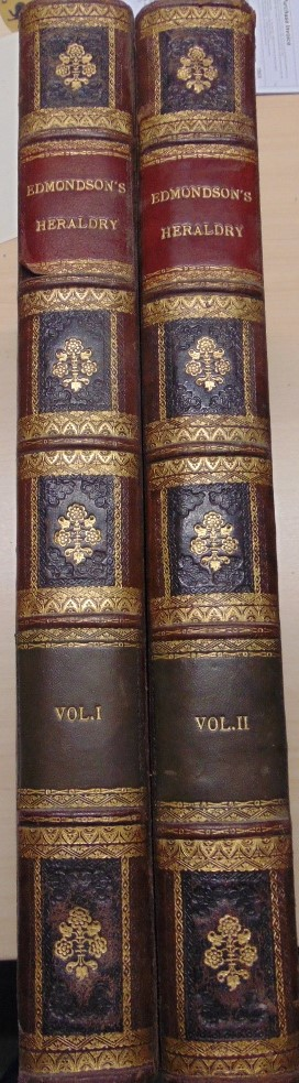 Lot 827 - EDMONDSON Joseph - A Complete Body of Heraldry - two volumes printed by T Spilsbury, Snowhill, 1780,