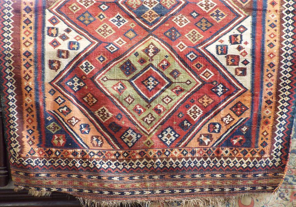 Lot 635 - Kelim carpet with various colourful medallions, 250 x 210 cm