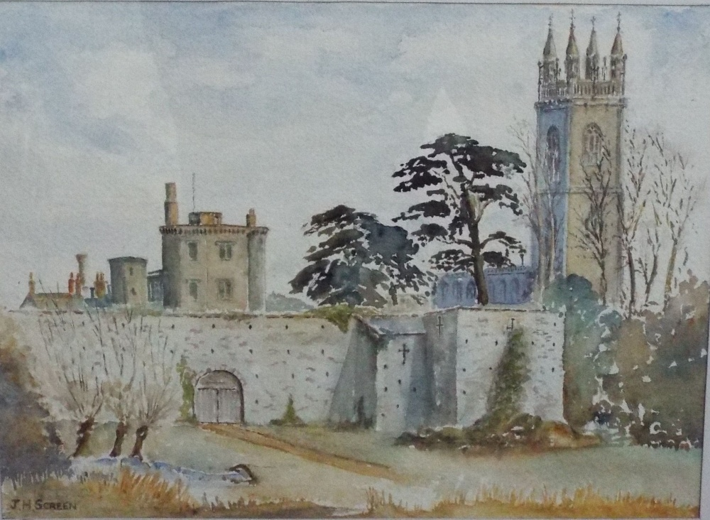 Lot 652 - A collection of pictures, books and ephemera relating to Thornbury including a watercolour of the