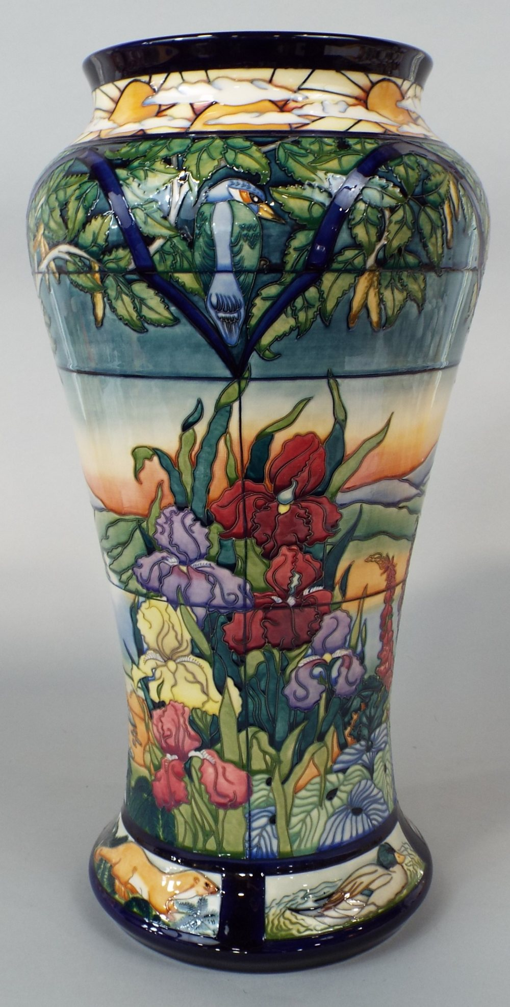 Lot 65 - A substantial Moorcroft Parramore Prestige floorstanding vase of shouldered form, designed by Rachel
