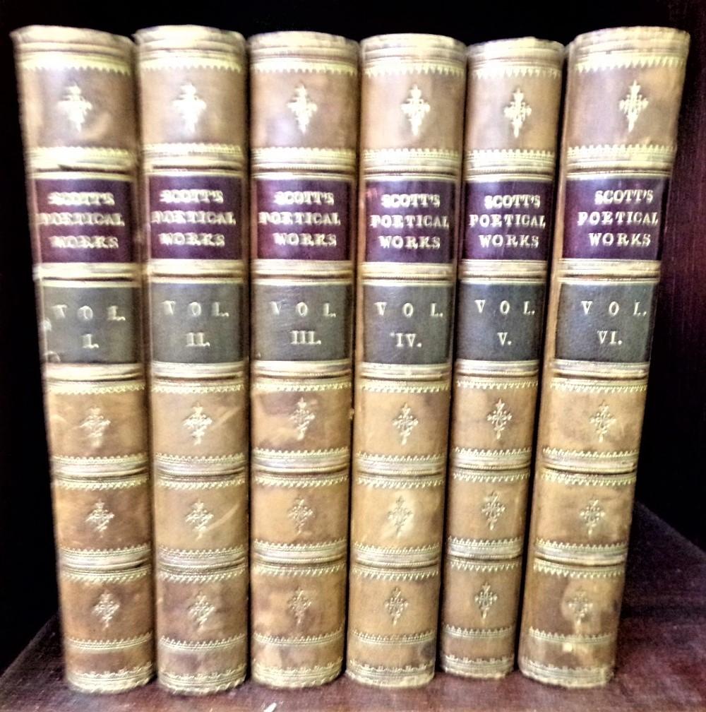 Lot 890 - Scott's Poetical Works in six volumes published by Adam & Charles Black, Edinburgh 1875 (6)