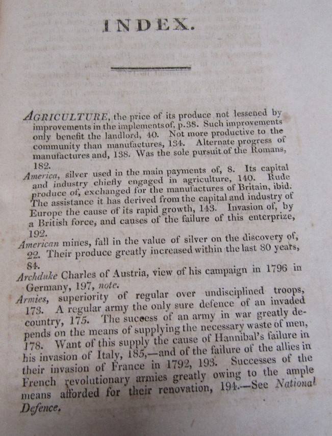 Lot 823 - SMITH Adam - An enquiry into the Nature and Causes of the Wealth of Nations 1817