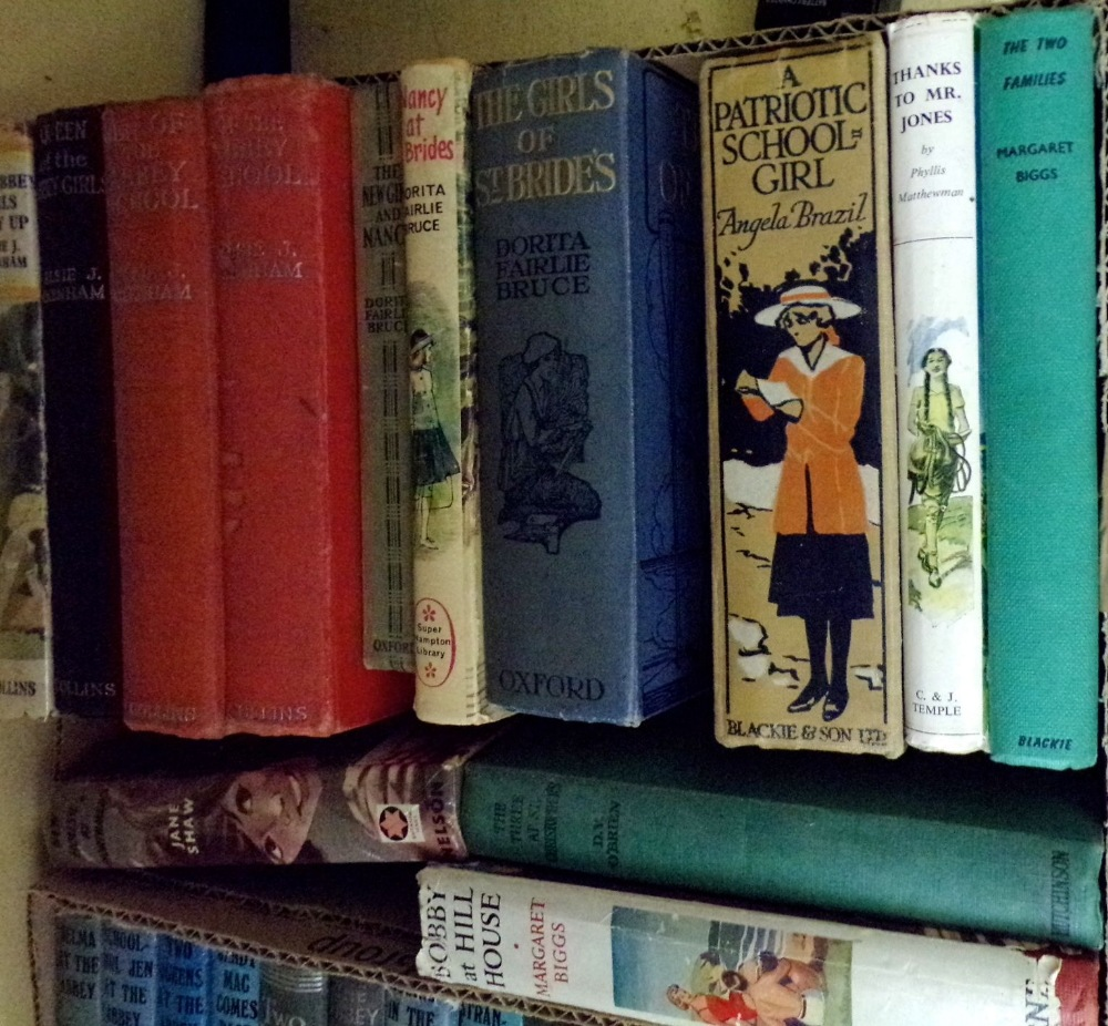 Lot 871 - An extensive collection of vintage girls adventure books including Angela Brazil, E J Oxenham, E M