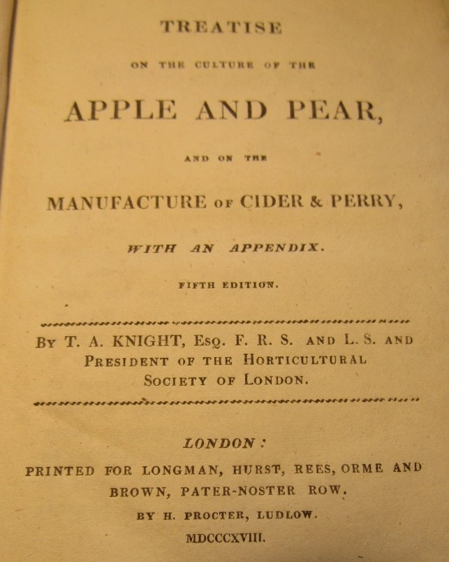 Lot 878 - KNIGHT J.A. - A Treatise on the Culture of the Apple & Pear and on the Manufacture of Cider &