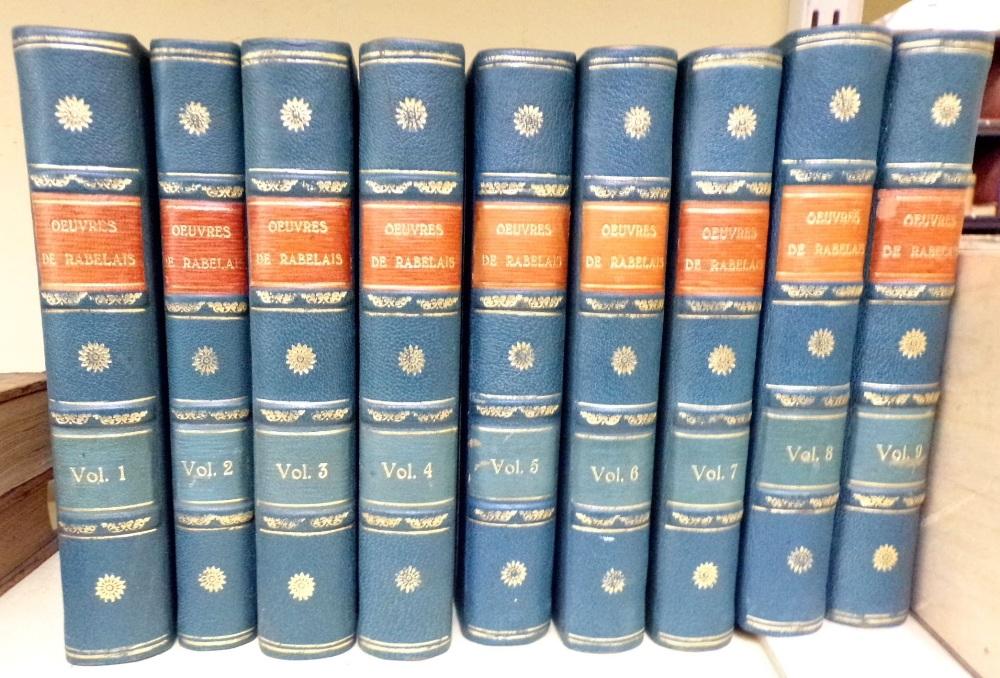 Lot 831 - Oeuvres De Rabelais in nine volumes published Paris, 1823