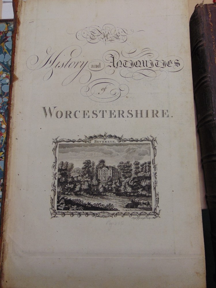 Lot 829 - NASH T - lot 1 Two volumes 1782 - The History and Antiques of Worcester