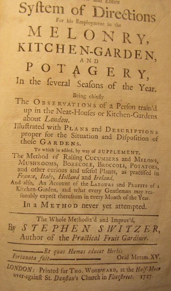 Lot 879 - SWITZER Stephen - The Practical Kitchen Gardiner or, a new and entire system of Directions -