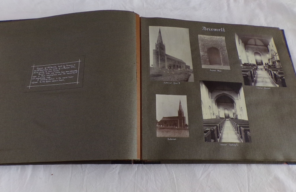 Lot 802 - A large early 20th century album containing a large quantity of pictures illustrating English church