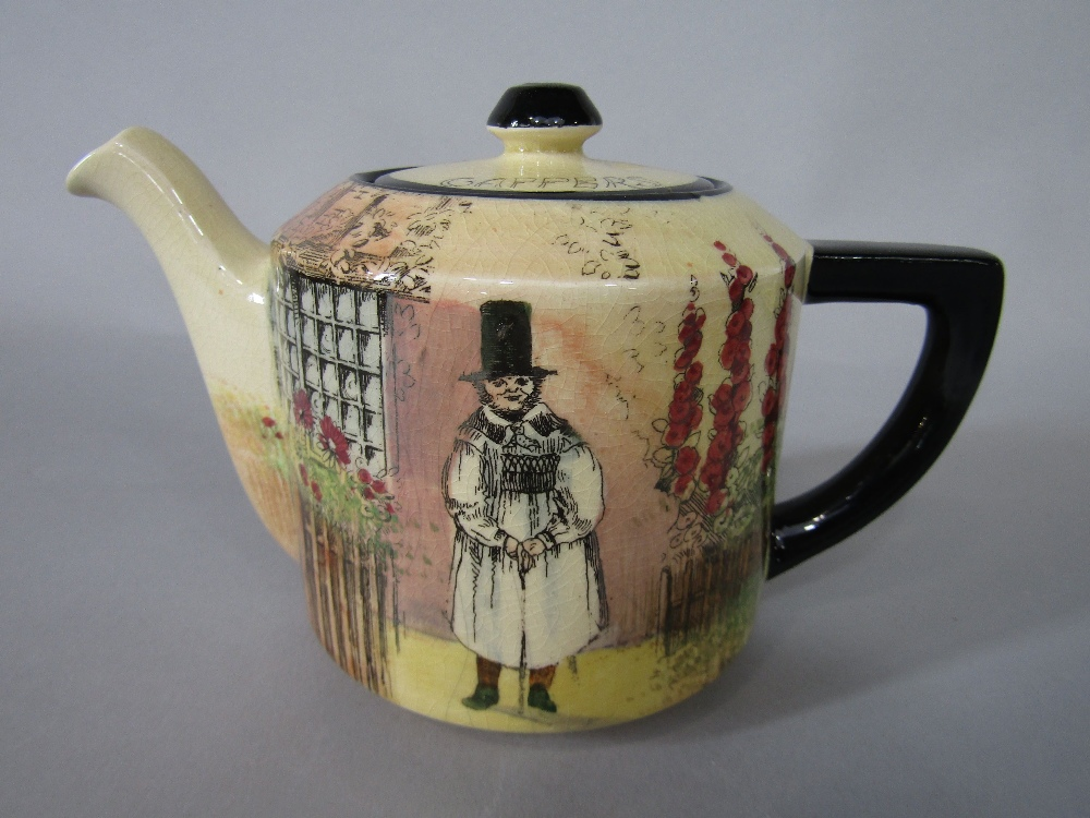 Lot 21 - A collection of Royal Doulton Gaffers series ware teawares comprising teapot, milk jug, sugar